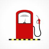 Gas station pump with fuel nozzle. Gas station pump with fuel nozzle Royalty Free Stock Photos