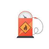 Gas station pump with fuel nozzle. Vector illustration Royalty Free Stock Photography