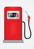 Gas station pump with fuel nozzle Stock Photo