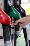 Gas Station Pump NozzleHandles Royalty Free Stock Photos