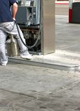 Gas station pump repair man-11510 Royalty Free Stock Photo