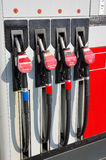 Gas station pumps Stock Photos