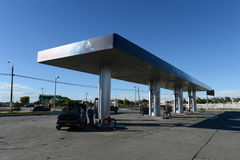 A gas station in Punta arenas. Chile Stock Photography