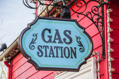 Gas station road sign Royalty Free Stock Photography