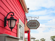Gas station sign Royalty Free Stock Photos