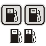 Gas station. Sign for a gas station. Black and gray frame vector illustration