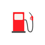 Gas station solid icon, fuel and refill sign Royalty Free Stock Image