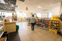 Gas station store interior Stock Photo