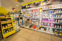 Gas station store interior Royalty Free Stock Photography