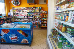 Gas station store interior Royalty Free Stock Photos