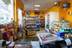 Gas station store interior. In Geneva, Switzerland. Photo taken on: August 25th, 2014 stock photo
