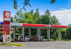 Gas station. Taken June 18, 2016 Jablonec nad Nisou Czech Republic view to the petrol station Royalty Free Stock Image
