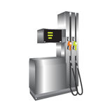 Gas station. Vector 3d illustration. Stock Photo