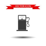 Gas station vector icon Royalty Free Stock Images
