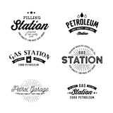 Gas station vector set. Royalty Free Stock Image