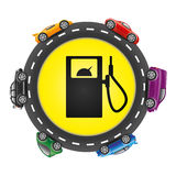Gas station. Royalty Free Stock Photography