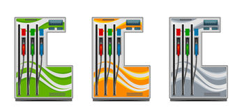 Gas station. On a white background stock illustration