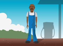 Gas station worker Royalty Free Stock Photography