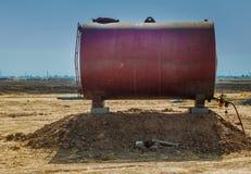 Gas Storage in desert Stock Photography