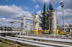 Gas storage and pipeline Royalty Free Stock Images