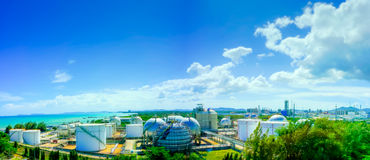 Gas storage plant Royalty Free Stock Images