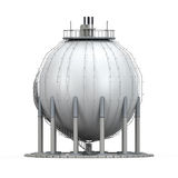 Gas Storage Refinery. Isolated on white background. 3D render stock illustration