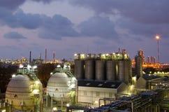 Gas storage spheres tank Stock Photos