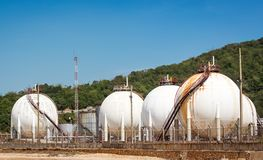 Gas storage tank Royalty Free Stock Photos