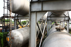 Gas storage tanks Stock Photos