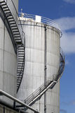 Gas storage tanks Royalty Free Stock Photography