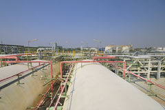 Gas storage tanks Stock Images