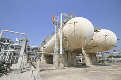 Gas storage tanks Stock Photography