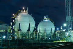Gas storage tanks Royalty Free Stock Photo