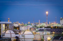 Gas storage tanks and petrochemical plant Royalty Free Stock Photos