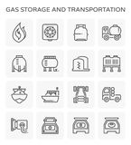 Gas storage icon. Gas storage and transportation icon set Stock Photography