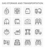 Gas storage icon Stock Photography