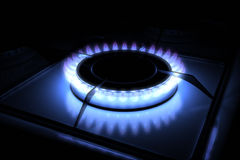 Gas stove burner Royalty Free Stock Photos
