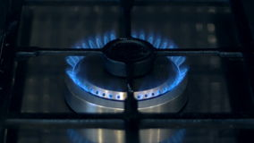 Gas Stove Burner stock video footage