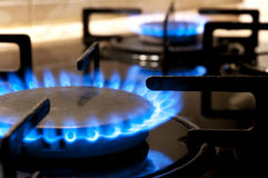 Gas stove. Closeup Stock Photography