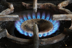 Gas stove, cooking. Stock Photography