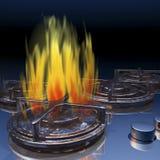 Gas stove Royalty Free Stock Photo