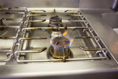 Gas stove with flame Stock Images