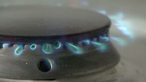 Gas stove stock video