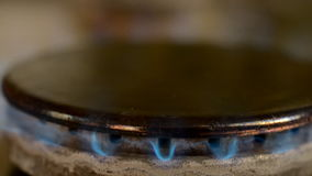 Gas stove in home. stock video