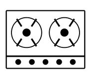 Gas stove icon Stock Images