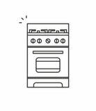 Gas stove icon Stock Photo