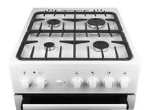 Gas stove isolated Royalty Free Stock Photos