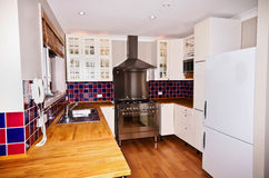 Gas Stove Kitchen. Kitchen with a gas stove being the prominent fixture Royalty Free Stock Image