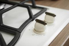 Gas stove in the kitchen Stock Photos