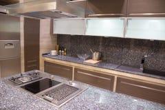 Gas stove in Kitchen stock photos